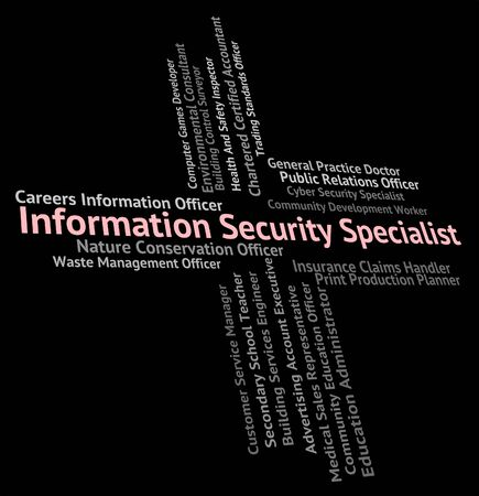 hábil: Information Security Specialist Meaning Skilled Person And Private Banco de Imagens