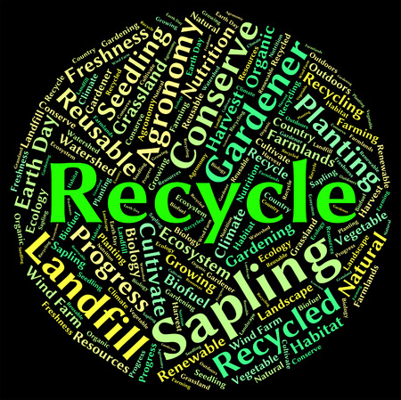 earth friendly: Recycle Word Meaning Earth Friendly And Text