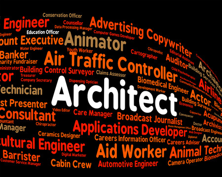 instigator: Architect Job Representing Building Consultant And Originator Stock Photo