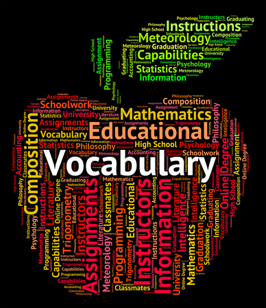 vocabulary: Vocabulary Word Representing Glossary Spellings And Spell Stock Photo