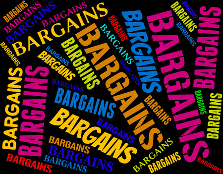 bargains: Bargains Word Indicating Words Text And Retail