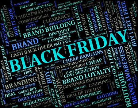 cheap: Black Friday Meaning Savings Clearance And Cheap Stock Photo