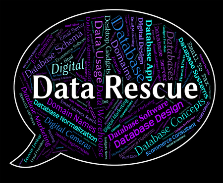 rescuing: Data Rescue Meaning Words Save And Rescuing