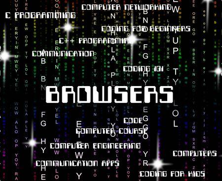 browsers: Browsers Word Indicating Browsing Computers And Words