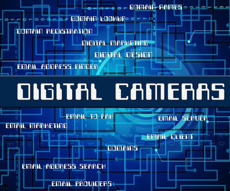 tec: Digital Cameras Meaning High Tec And Photos Stock Photo