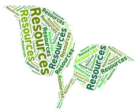 recursos naturales: Recursos Naturales Mostrando Reservas de texto y las palabras