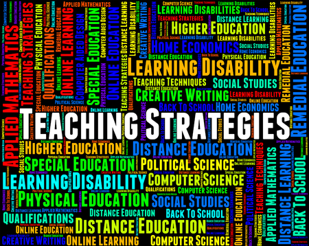 taught: Teaching Strategies Indicating Give Lessons And Vision Stock Photo