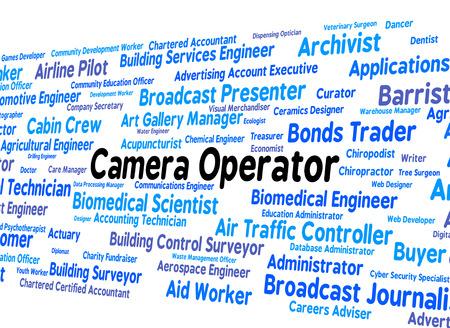 operative: Camera Operator Representing Photos Operate And Work Stock Photo