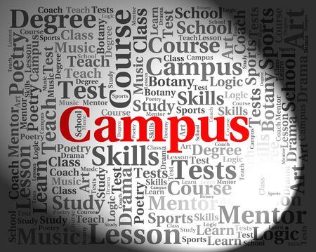 Campus Word Showing Academy Universities And Words