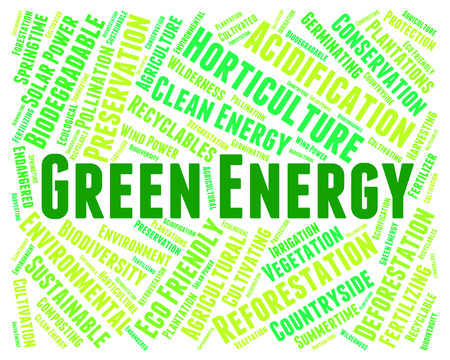 energize: Green Energy Representing Solar Powered And Ecological