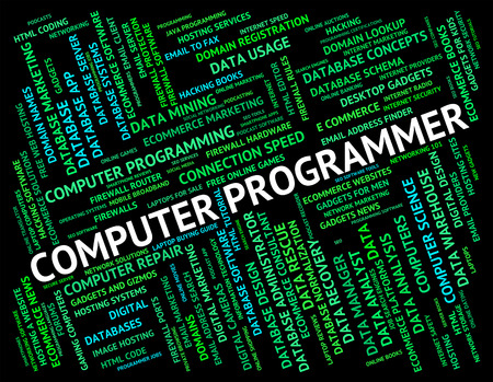 Computer Programmer Showing Software Engineer And Programming
