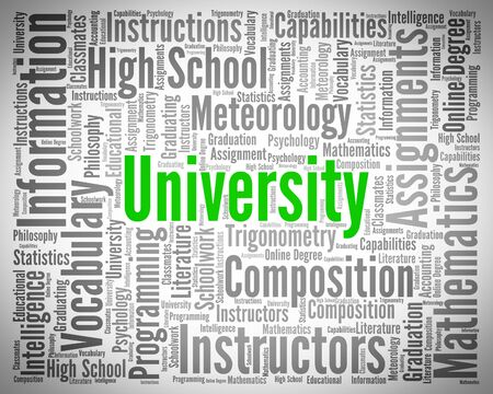 university word: University Word Representing Educational Establishment And Universities
