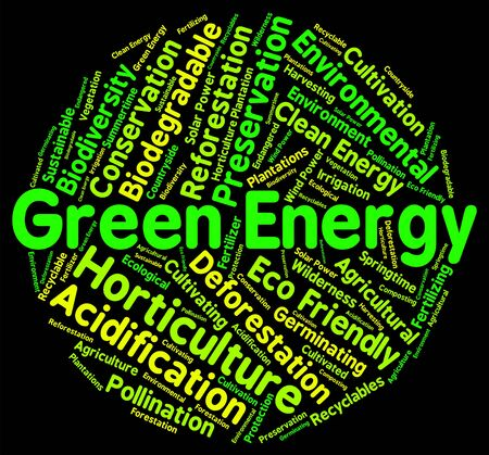 earth friendly: Green Energy Indicating Earth Friendly And Environment