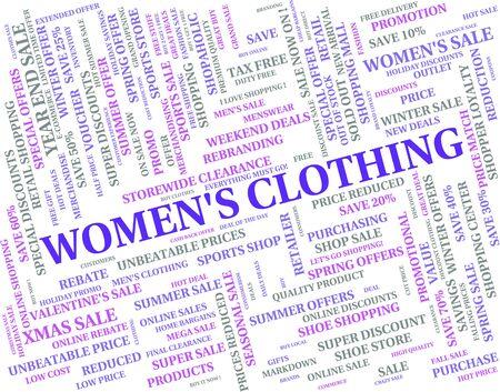 womens clothing: Womens Clothing Representing Pants Garments And Apparel