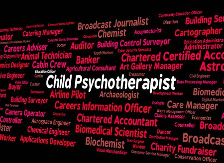 disturbed: Child Psychotherapist Indicating Disturbed Mind And Delusions Stock Photo
