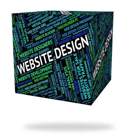 website design: Website Design Showing Designs Domain And Word