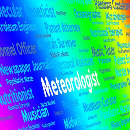 forecaster: Meteorologist Job Representing Weather Forecaster And Employment