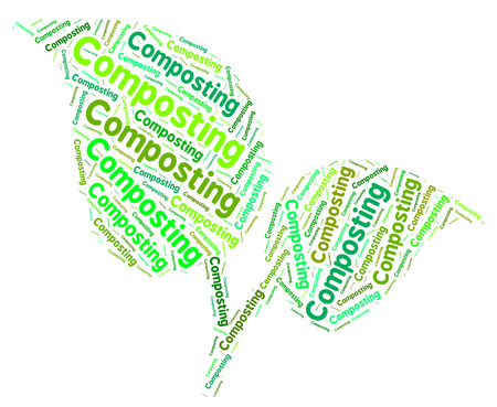 composting: Composting Word Representing Flower Garden And Lawn