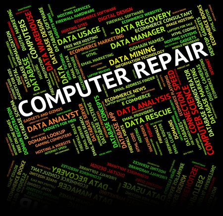 repair computer: Computer Repair Representing Mend Recondition And Pc