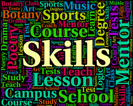 expertise: Skills Word Showing Expertise Competence And Text