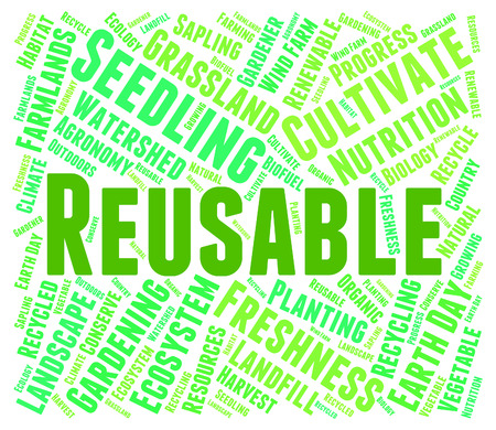 reusable: Reusable Word Showing Go Green And Text