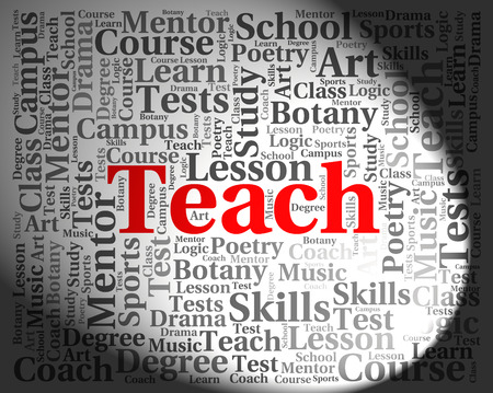 lessons: Teach Word Indicating Give Lessons And Coaching Stock Photo