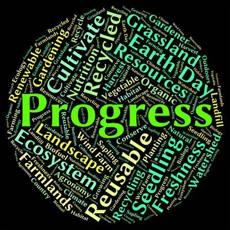 progression: Progress Word Representing Betterment Progression And Growth