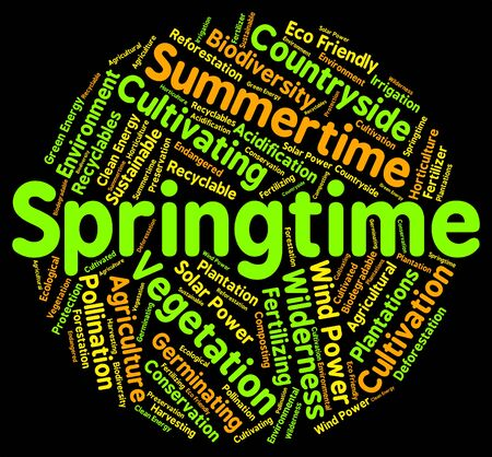 spring tide: Springtime Word Showing Season Seasons And Warmth