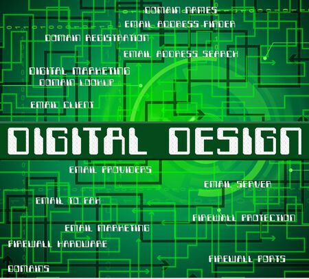 tec: Digital Design Meaning High Tec And Word