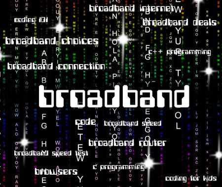 broadband: Broadband Word Representing World Wide Web And Website Stock Photo