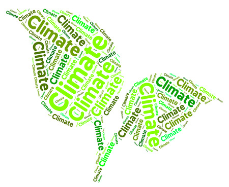 clime: Climate Word Showing Weather Patterns And Conditions Stock Photo