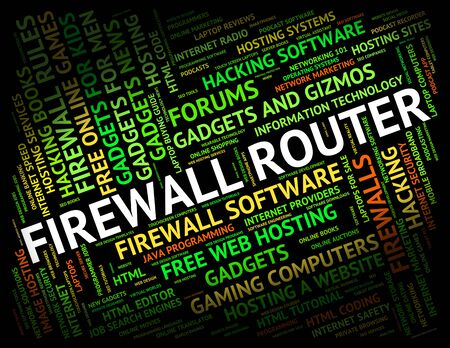 no access: Firewall Router Showing No Access And Distribute