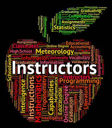 tutor: Los instructores Palabra Mostrando dar lecciones y tutor