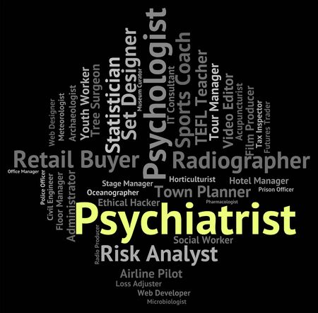 disturbed: Psychiatrist Job Representing Disturbed Mind And Hire