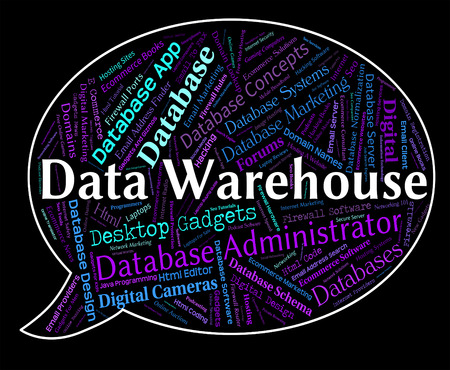 stockroom: Data Warehouse Meaning Stockroom Fact And Repository Stock Photo