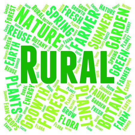 non: Rural Word Representing Non Urban And Text