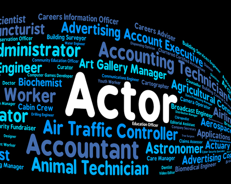 thespian: Actor Job Representing Dramatic Artist And Jobs