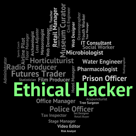 sourcing: Ethical Hacker Showing Out Sourcing And Unimpeachable