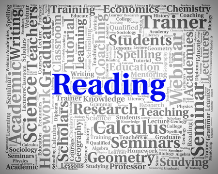comprehend: Reading Word Showing Look Through And Peruses