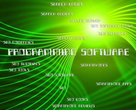 programs: Programming Software Representing Programs Programmer And Word