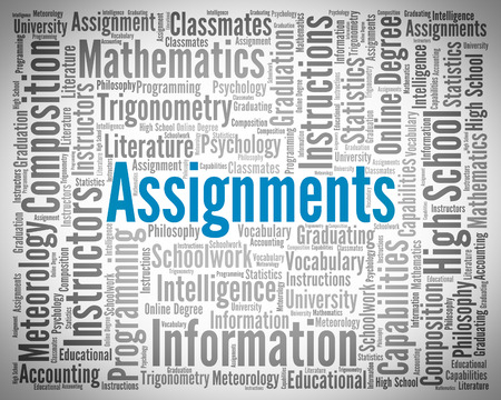 undertaking: Assignments Word Representing Tasks Undertaking And Words
