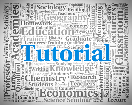 tutoriels: Tutorial Word Showing Online Tutorials And Education