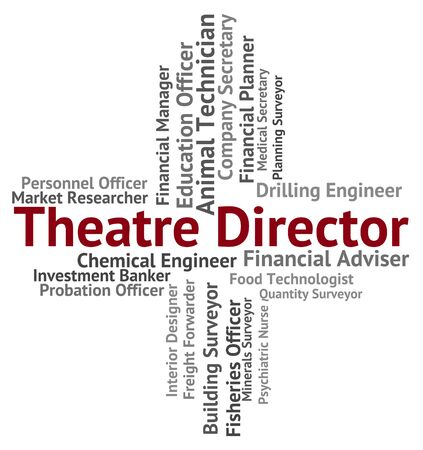 overseer: Theatre Director Meaning Directors Head And Controller Stock Photo