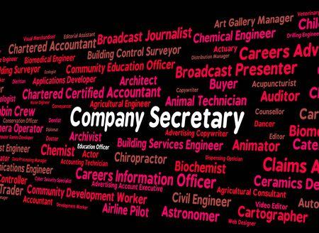 secretaria: Secretario de la Sociedad Clerical Indicando auxiliar y Empresas