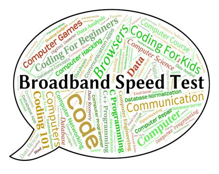 broadband: Broadband Speed Test Indicating World Wide Web And Www