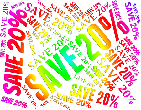 promotional: Twenty Percent Off Meaning Promotional Discounts And Bargain