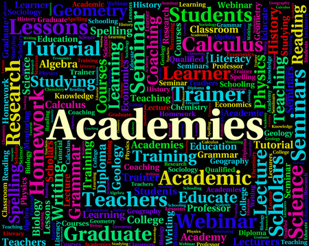 Academies Word Representing Naval Academy And Words