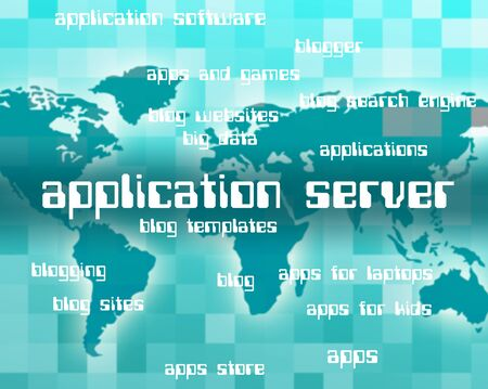 serves: Application Server Representing Serves Servers And Serving