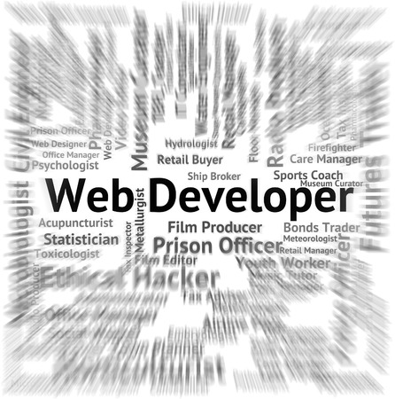 web developer: Web Developer Showing Employee Jobs And Words