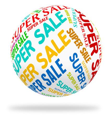 superb: Super Sale Representing Bargain Superb And Cheap Stock Photo